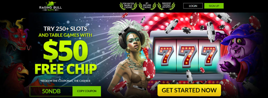 raging bull casino $50 free chip